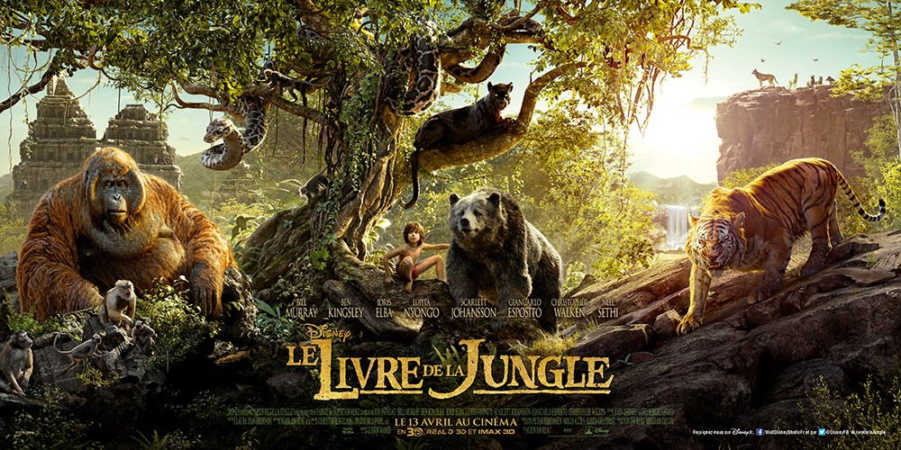 LE LIVRE DE LA JUNGLE - Affiche Tryptique The Jungle Book 2016 Favreau - Go with the Blog