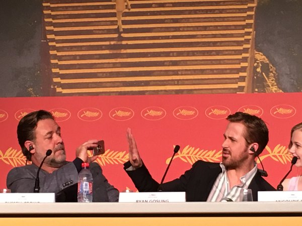CANNES 2016 - DAY 5 THE NICE GUYS conférence de presse 1