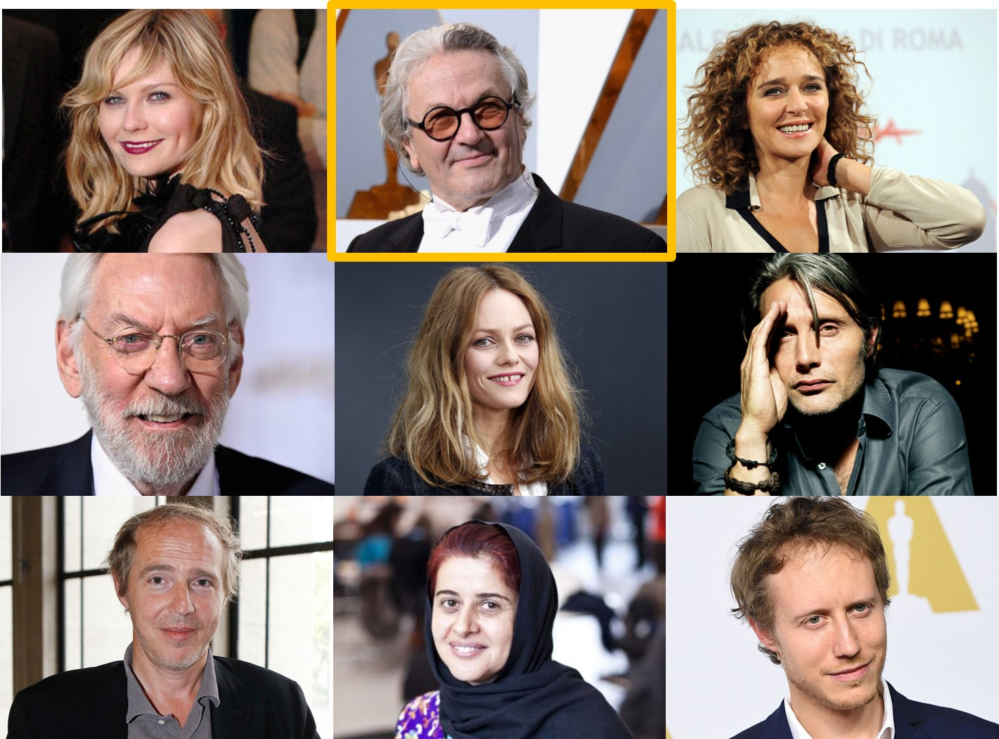 CANNES 2016 - Jury Festival de Cannes France 2016 Vanessa Paradis George Miller Madds Mikelsen Despleschin Sutherlands Golino - Go with the Blog