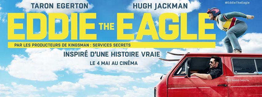 EDDIE THE EAGLE - Visuel 3 Affiche Hugh Jackman Taron Egerton 2016 - Go with the Blog