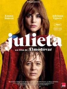 JULIETA - AFFICHE OFFICIELLE FRANCE Almodovar film Cannes 2016
