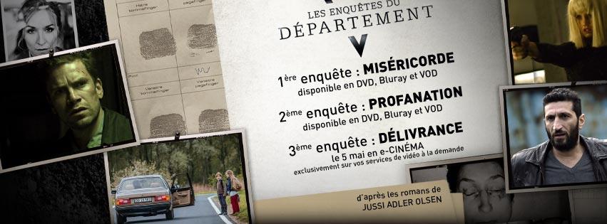 LES ENQUÊTES DU DÉPARTEMENT V DÉLIVRANCE - 3e volet sortie e-cinéma 2016 Wild Side Visuel Large 3 Récap Sorties France - Go with the Blog