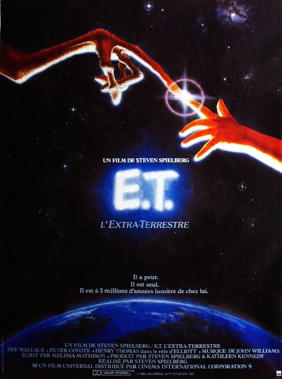 E.T. IL EST SEUL IL A PEUR IL EST A 3 MILLIONS D'ANNEES LUMIERE DE CHEZ LUI Affiche France