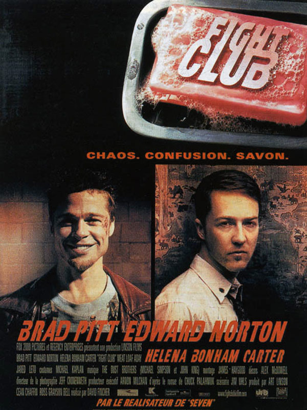 FIGHT CLUB CHAOS CONFUSION SAVON David Fincher Affiche France