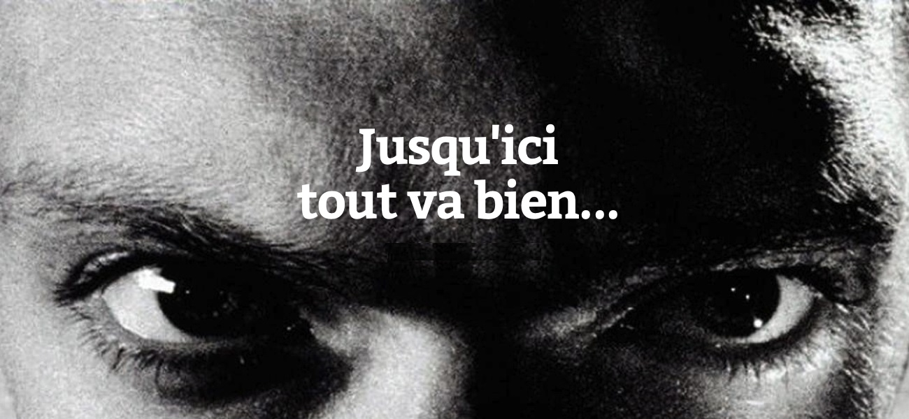LA HAINE JUSQU'ICI TOUT VA BIEN Kassovitz affiche 1995 Gros Plan 2 neutre