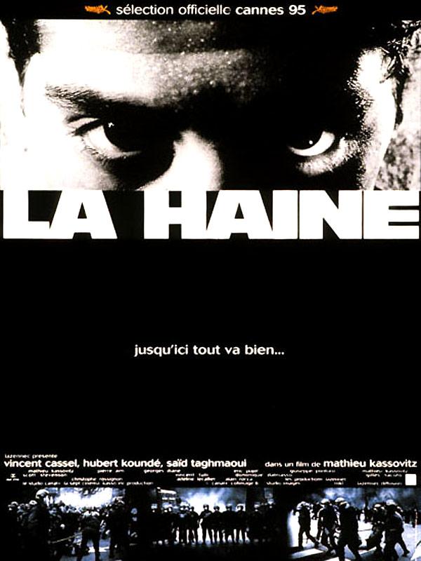 LA HAINE JUSQU'ICI TOUT VA BIEN Kassovitz affiche 1995