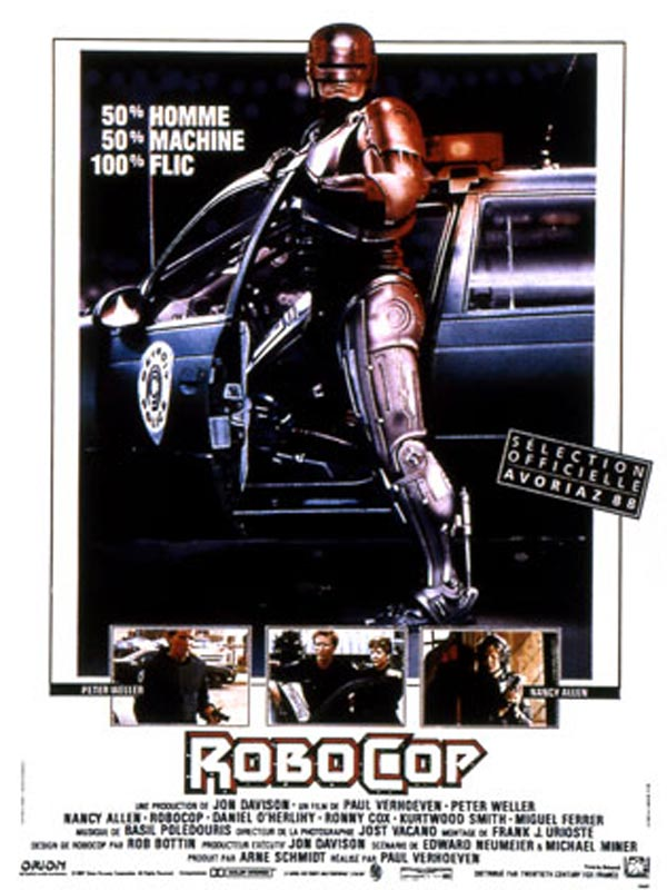 ROBOCOP 50% HOMME 50% MACHINE 10%% FLIC. Affiche France
