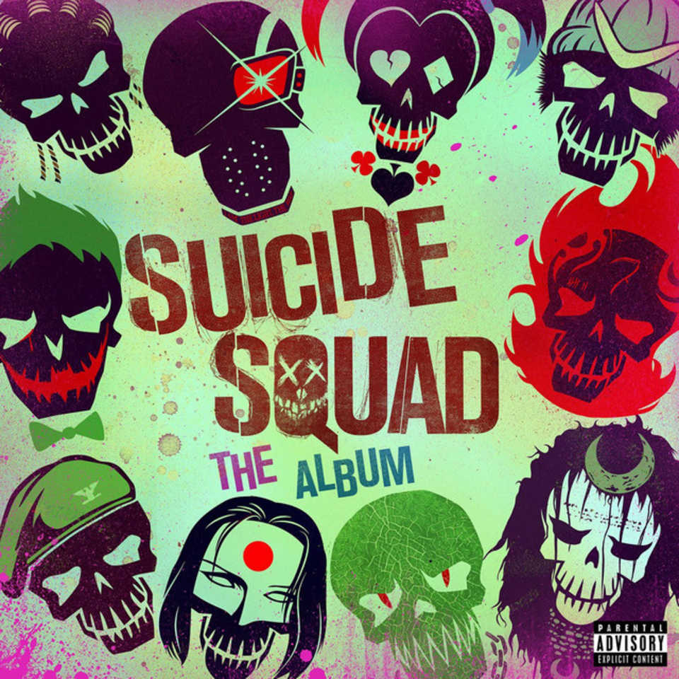 SUICIDE SQUAD - Soundtrack Official COVER Personnages 2016 Atlantic Records - Go with the Blog