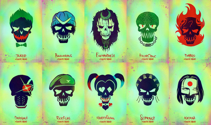 SUICIDE SQUAD - Soundtrack Visuel Personnages 2016 Atlantic Records - Go with the Blog