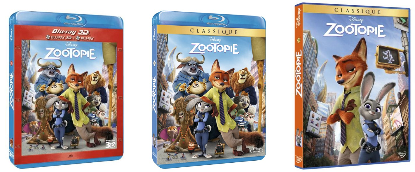 ZOOTOPIE - Bluray DVD Bluray 3D Packshots FRANCE - Go with the Blog