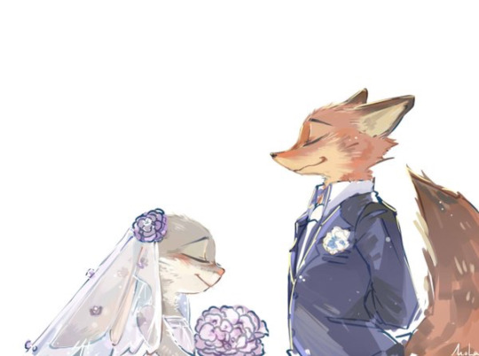 ZOOTOPIE - Mariage fictif Judy et Nick fan art 2016 Disney non officiel - Go with the Blog