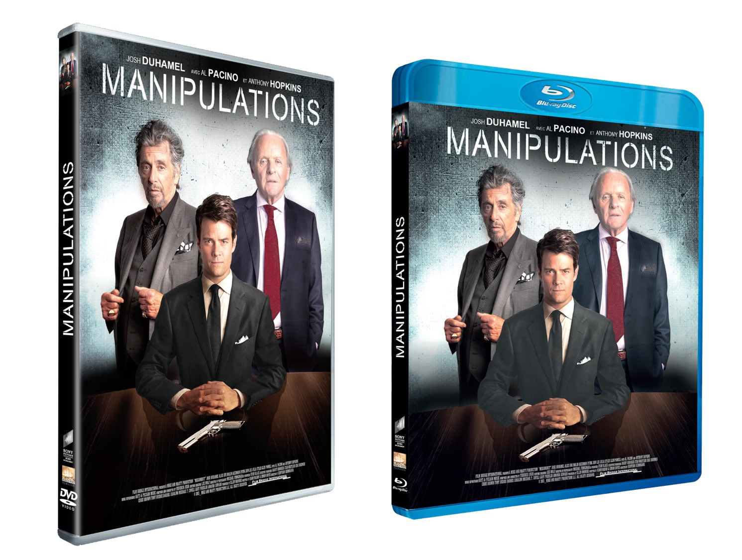 MANIPULATION(S) - Visuel combiné BLU RAY DVD France film Al Pacino Anthony Hopkins 2016 - Go with the Blog