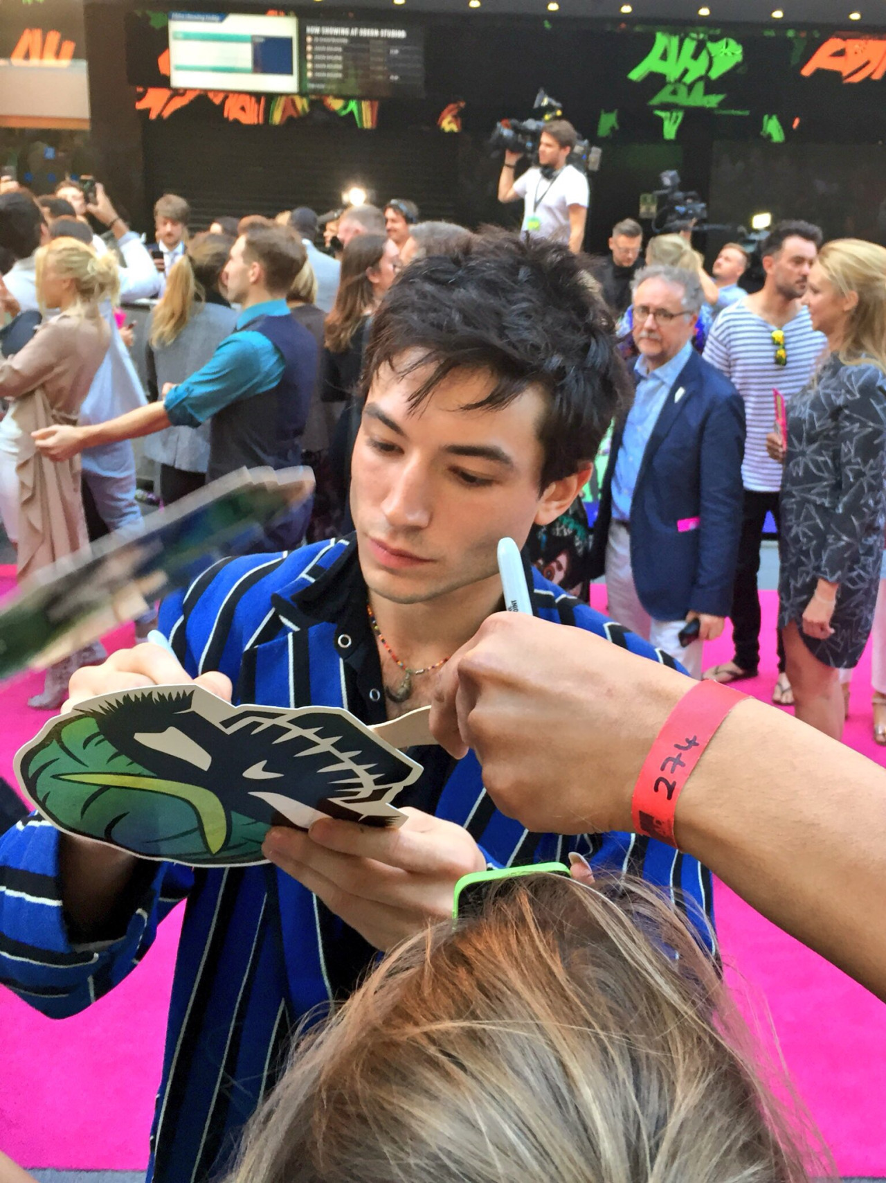 SUICIDE SQUAD - Suicide Squad European Premiere London Leicester Square 03 august 2016 Ezra Miller 1 - Go with the Blog