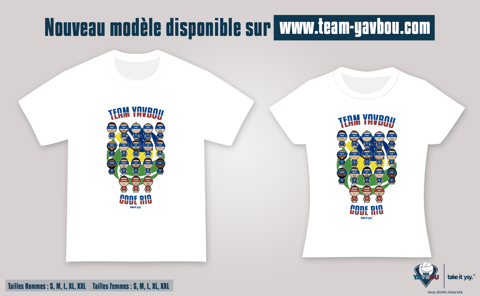 YAVBOU - Visuel T-SHIRTS Homme et Femme YSY RIO 2016 Take it YSY 2016 Youssef t-shirt Team Yavbou - Go with the Blog